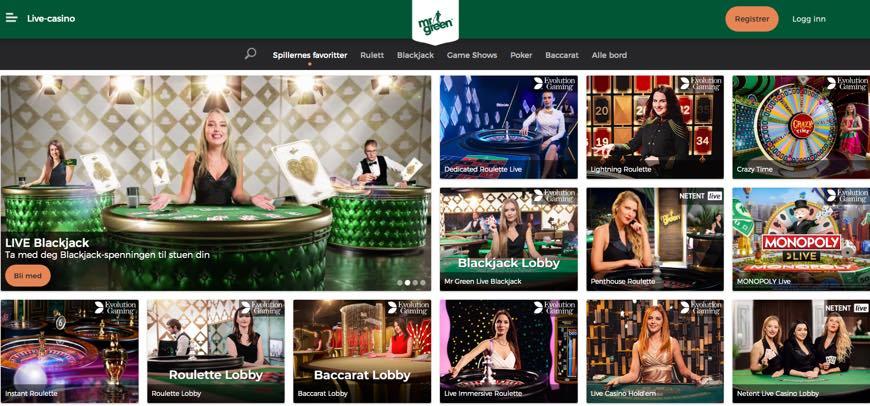 Mr.Green live-casino