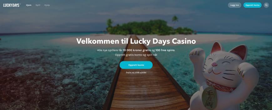 Luckydays free spins